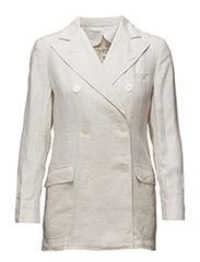 DBLE BRSTED-LINEN-JACKET - SUMMER CREAM