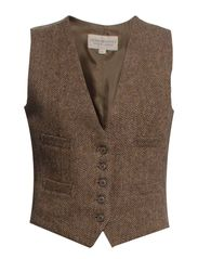 TWEED WAISTCOAT - LIGHT BROWN