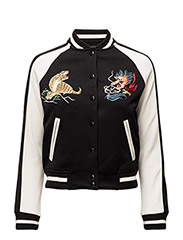 CHEST-PATCH BASEBALL JACKET - POLO BLACK GUID