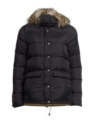 DOWN JACKET W/FUR - POLO BLACK