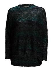 High-Low-Hem Sweater - TEAL MULTI