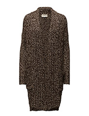 Shawl Sweater Coat - BROWN RAGG