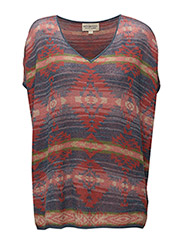 VN TUNIC-SHORT SLEEVE-SWEATER - BLUE MULTI