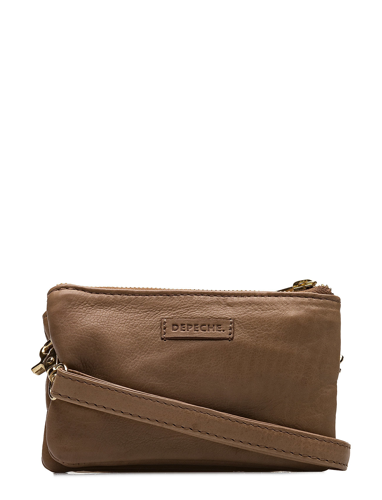 Golden Deluxe Small Bag / Clutch DEPECHE Små tasker til Damer i Taupe