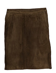 A skirt with elastic waistband - ARMY GREEN