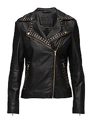 Biker jacket with studs - GOLD
