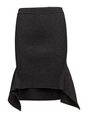 Ribly Drape Skirt - DARK GREY MELANGE