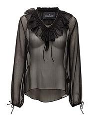 Keisha Ruffle Top - BLACK