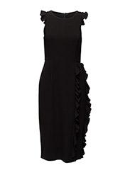 Georgia Curl Dress - BLACK