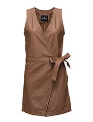 Erin Wrap Dress LB - DUSTY BROWN