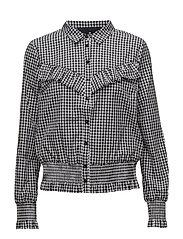 Amy Ruffle Shirt - CHECK