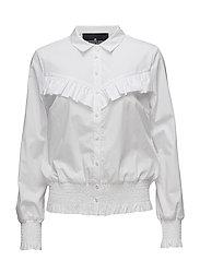 Amy Ruffle Shirt - WHITE