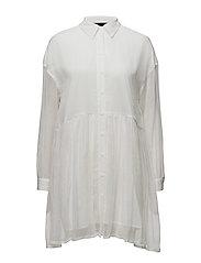 Elise Shirt Dress - WHITE