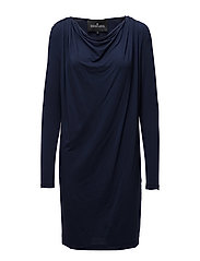 Caitlyn Drape Dress - NAVY