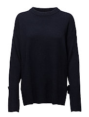 Sydni Tie Sweater - NAVY