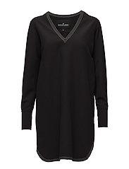 Sana Sleeve Dress - BLACK