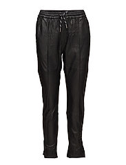 Erin Slit Pants LB - BLACK