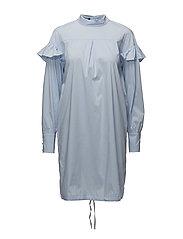 Romy Ruffle Dress - LIGHT BLUE