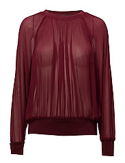 Lila Top - DARK RED