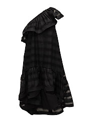 Madison Oneshoulder Dress - BLACK