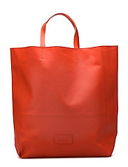 Gigi Large Tote Bag - NEON RED