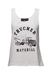 Travis Tank Trucker - WHITE