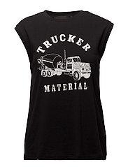 Travis Muscle Trucker - BLACK