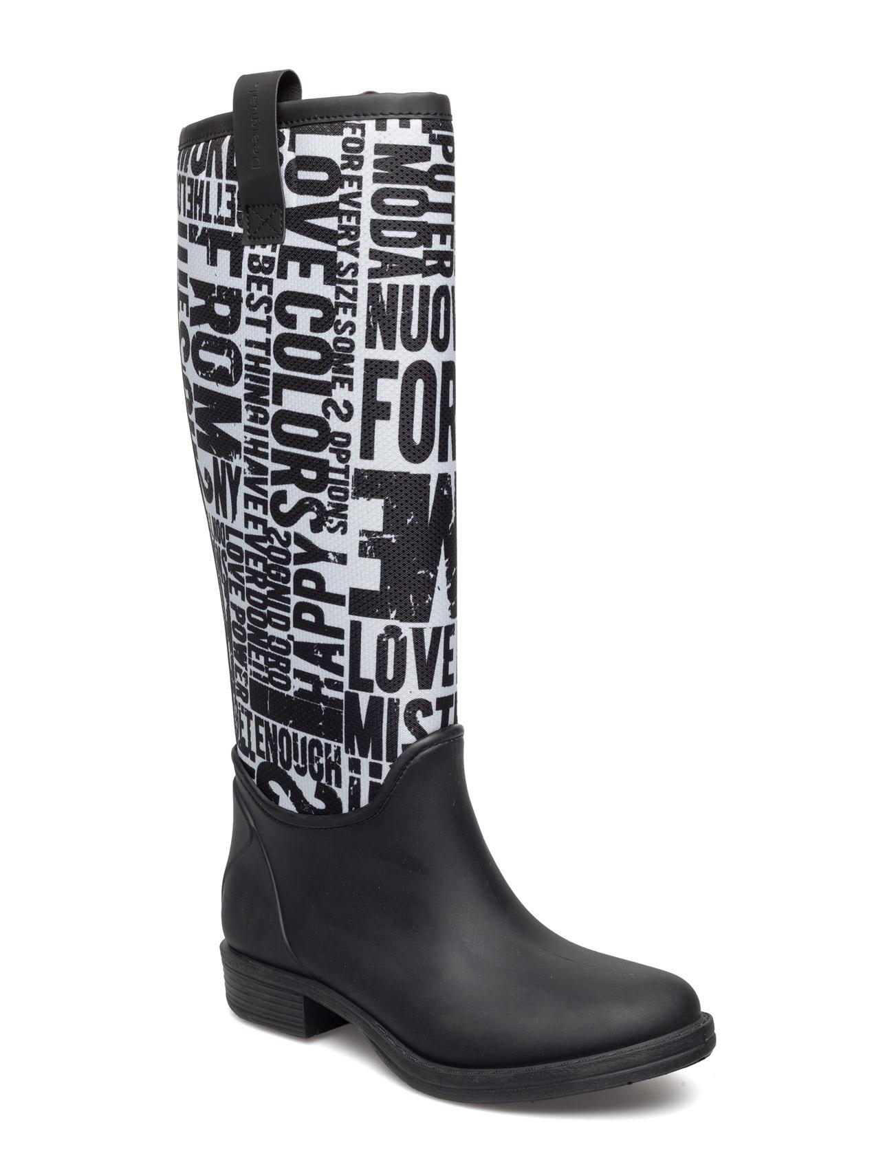 Shoes Kartel Rainboot Desigual Shoes Støvler til Kvinder i neger