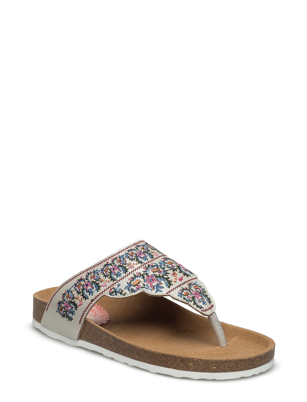 Shoes Tajmahal Flowers Desigual Shoes Sandaler til Damer i Blanco