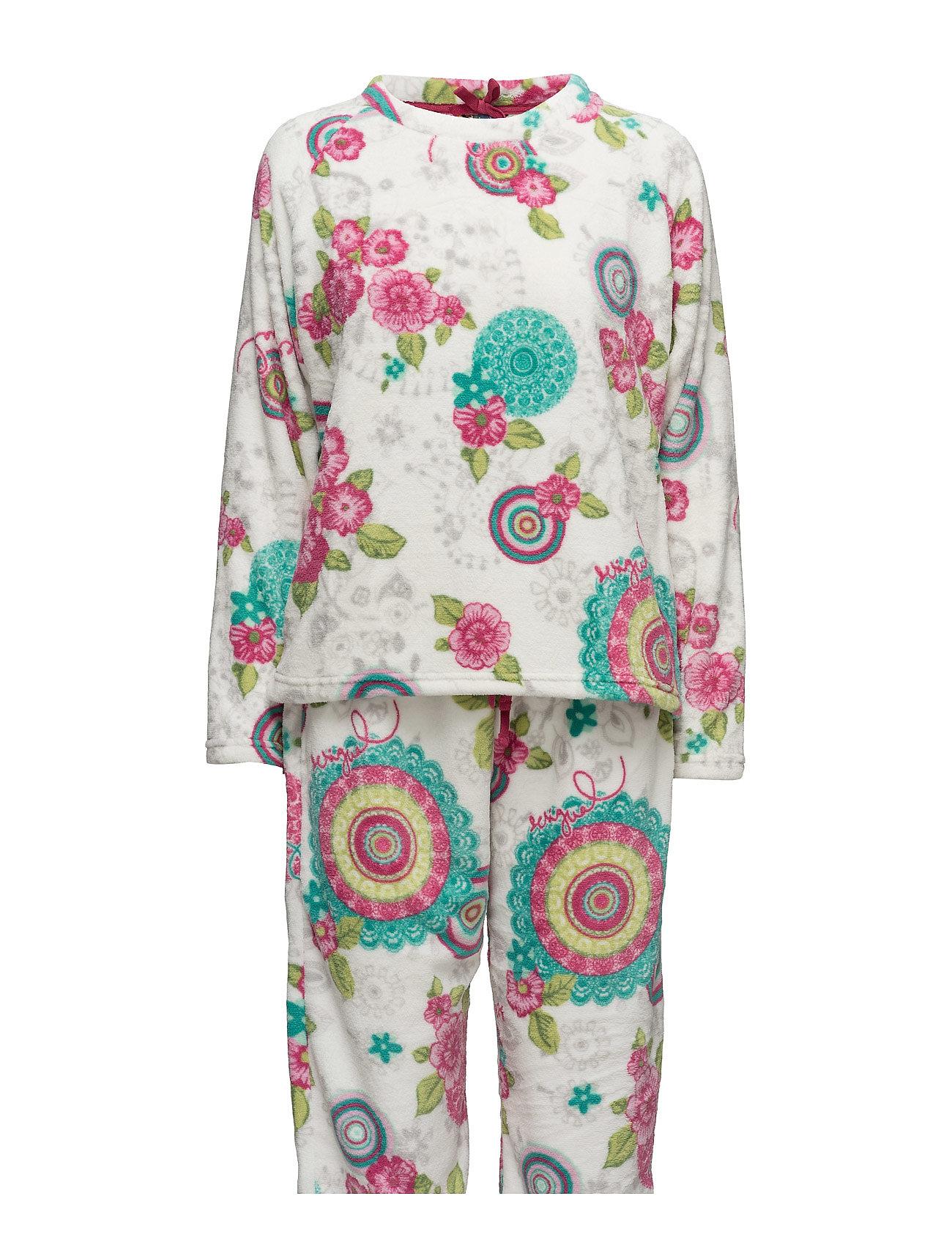 Pyjamas Sweet Mandala Desigual Nattøj til Damer i Blanco