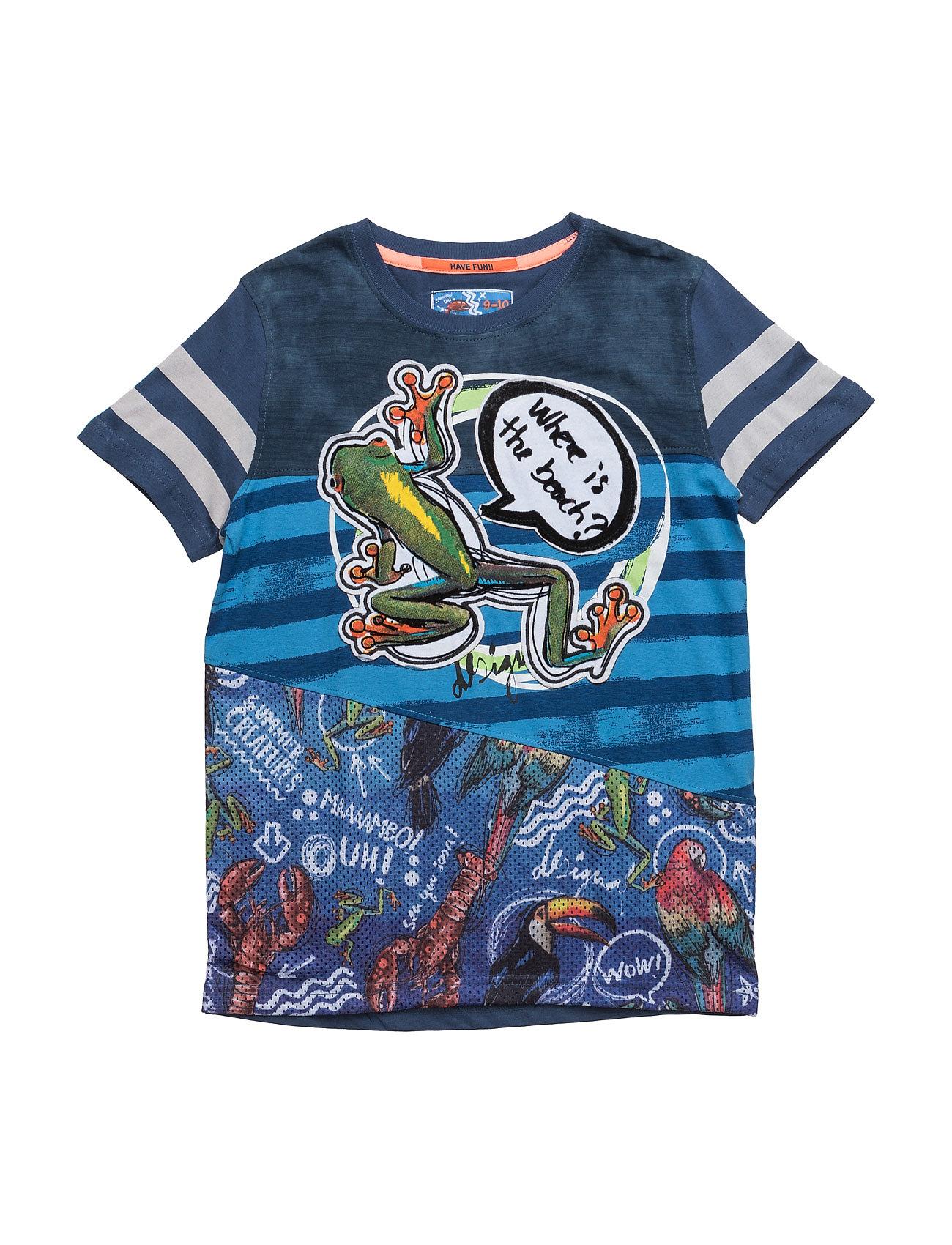 Ts Fermin Desigual Kortærmede t-shirts til Børn i Midnight blå