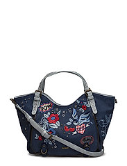 BOLS DENIM FLOWERS ROTTE - NAVY