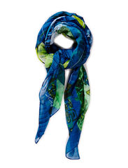 FOULARD RECTANGLE JUNGLE - NAVY