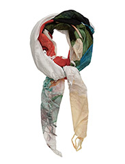 FOULARD RECTANGLE PAINTE - BLANCO