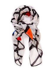 FOULARD RECTANGLE TRENCA - BLANCO