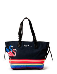 BOLS SOPHIA FLAMINGOS NEW - NEGRO