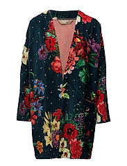 BATHROBE DARK FLORAL - JUNE BUG