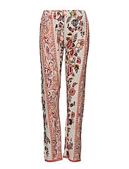 TROUSERS ROMANTIC BOHO - ROUGE RED