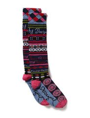 SOCKS_KNEE HIGH FO - MIDNIGHT