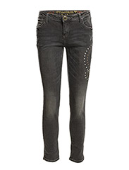 DENIM ANKLE SKINNY - BLACK DENIM