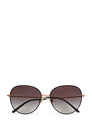 WOMEN'S SUNGLASSES - MATTE BLACK/PINK GOLD
