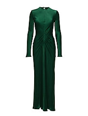 Long bias dress - GREEN