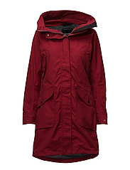 AGNES WNS COAT - DARK RED
