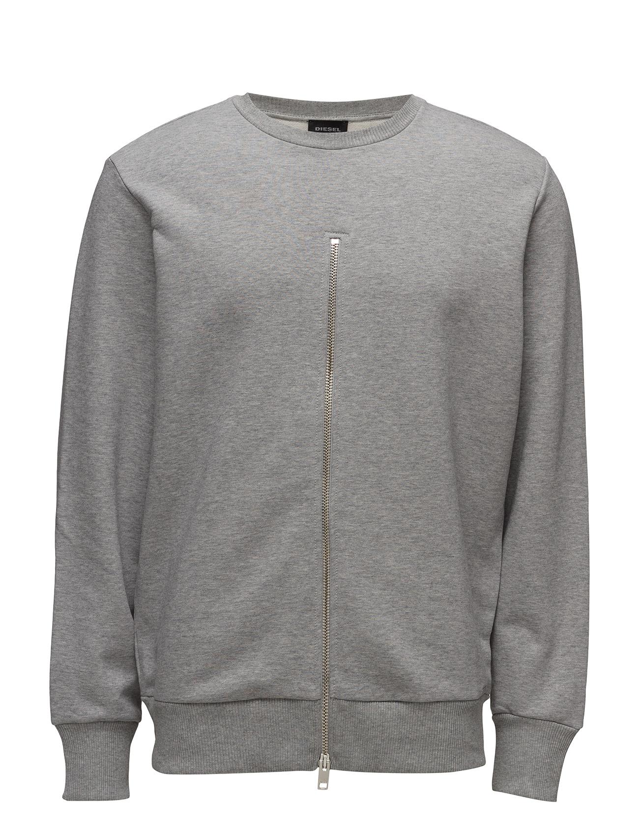 S-Ezra Sweat-Shirt Diesel Men Sweat pants til Herrer i Light Grey Melange