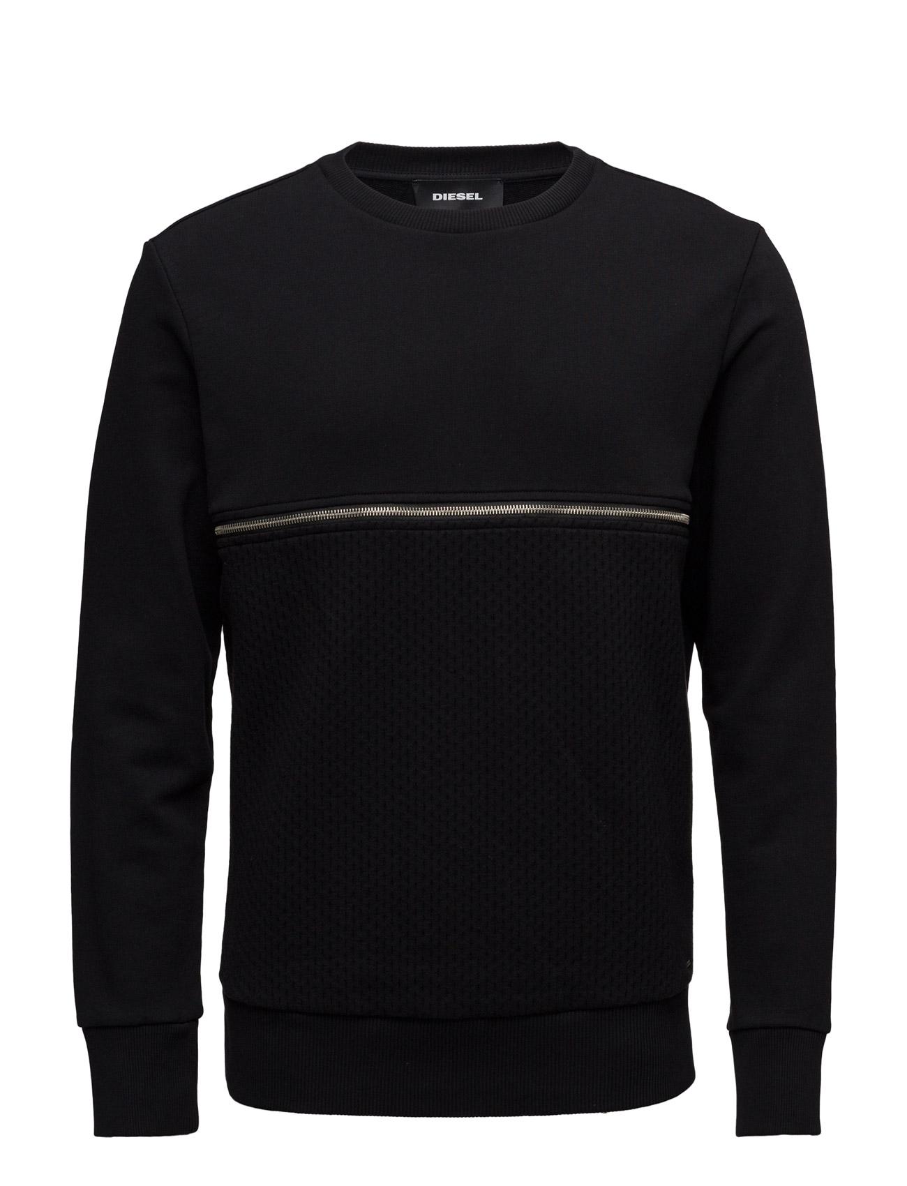 S-Dry Sweat-Shirt Diesel Men Striktrøjer til Mænd i Sort