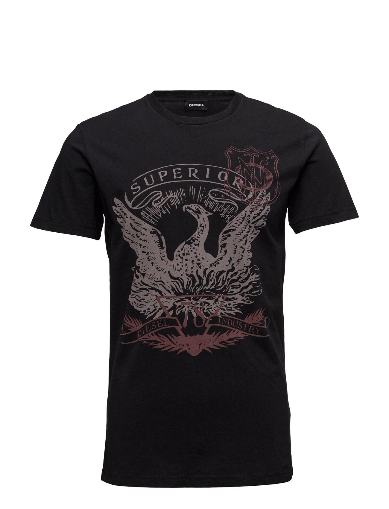 T-Diego-Mz T-Shirt Diesel Men Kortærmede til Mænd i Sort