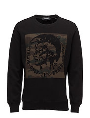 S-JOE-RB SWEAT-SHIRT - BLACK
