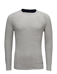 K-ALBY PULLOVER - LIGHT GREY MELANGE