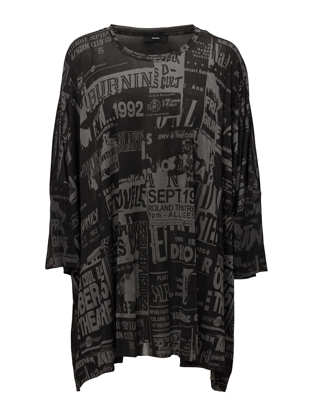 T-Super-A T-Shirt Diesel Women Langærmede til Damer i Sort