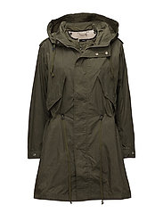W-TERRY JACKET - OLIVE NIGHT